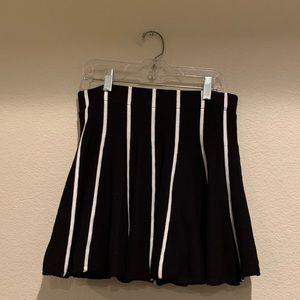 J.O.A. Black and White Skater Skirt